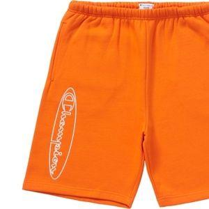 Supreme Champion Outline Sweatshort (Orange) L